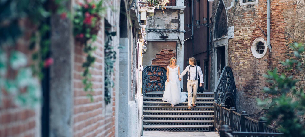 Boho Hochzeit in Venedig Italien